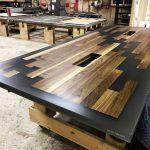 bàn họp gỗ epoxy