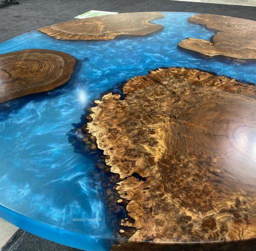 bàn ăn epoxy tròn
