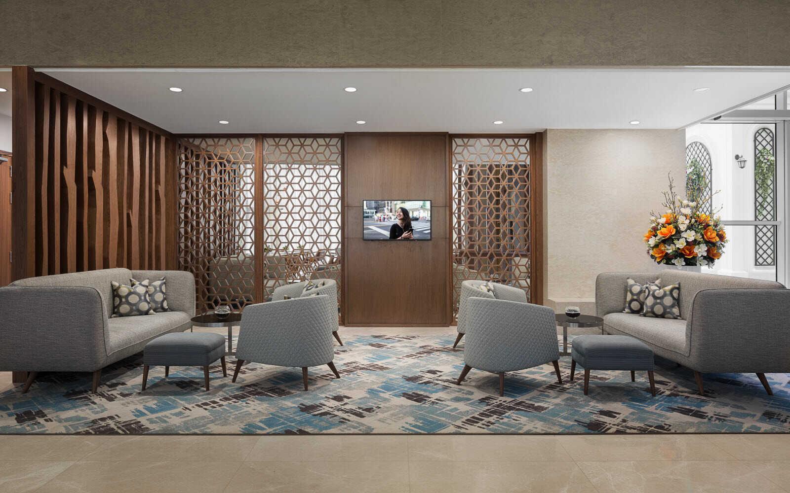 thầu thiết kế và thi công trang trí mĩ thuật khách sạn