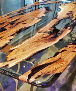 Bàn ăn gỗ epoxy