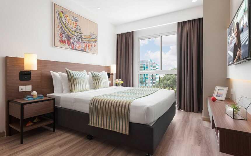 trang trí mĩ thuật phòng ngủ khách sạn